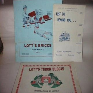 Lotts Bricks Plans Booklet, Illustrations of Models and Price List